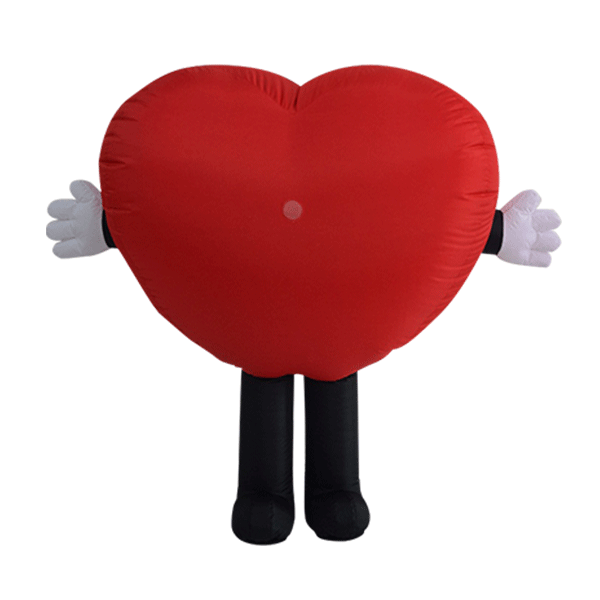 custom made mascot malaysia healthy heart hola mascot 1