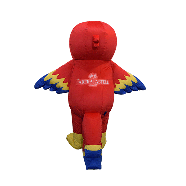 custom made mascot faber castell parrot yellow hola mascot 3