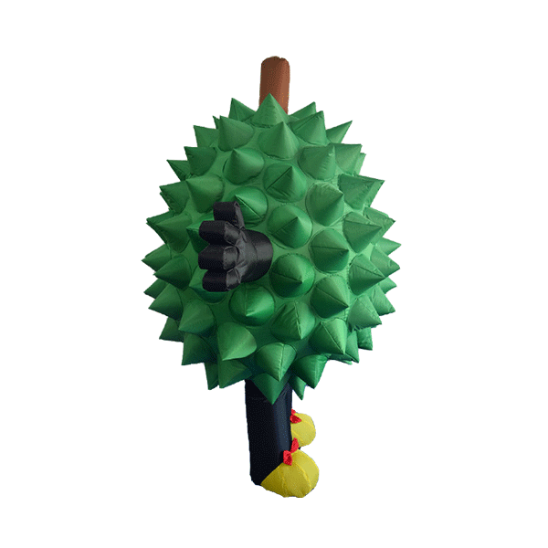 custom made mascot malaysia durian girl hola mascot 3