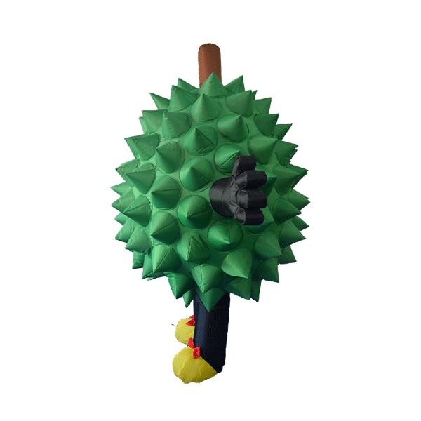 custom made mascot malaysia durian girl hola mascot 2