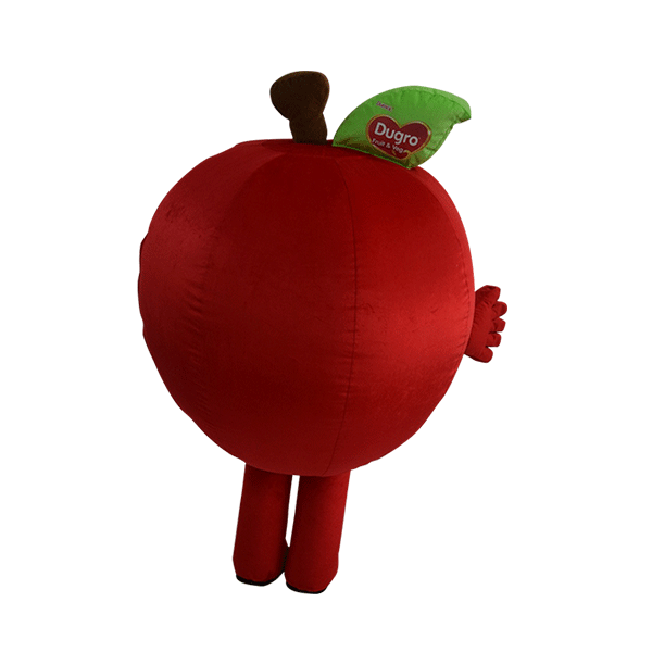 custom made mascot malaysia dumex apple hola mascot 3
