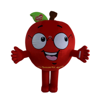 custom made mascot malaysia dumex apple hola mascot 1