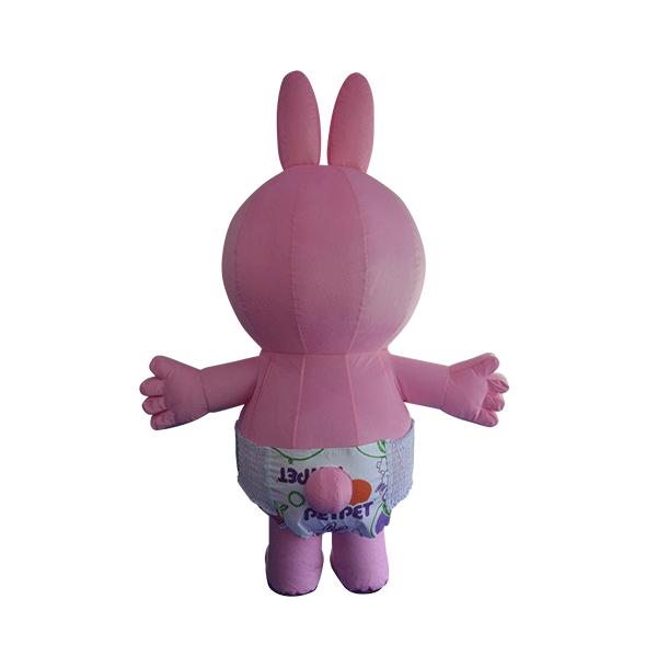 custom mascot supplier malaysia petpet soft rabbit disposable 3