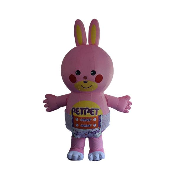 custom mascot supplier malaysia petpet soft rabbit disposable 1