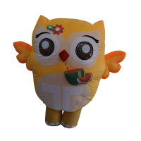 inflatable custom made mascot trip4asia yellow owl hola mascot 1