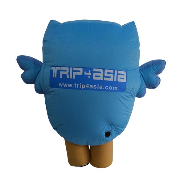 custom made mascot trip4asia blue owl hola mascot 3