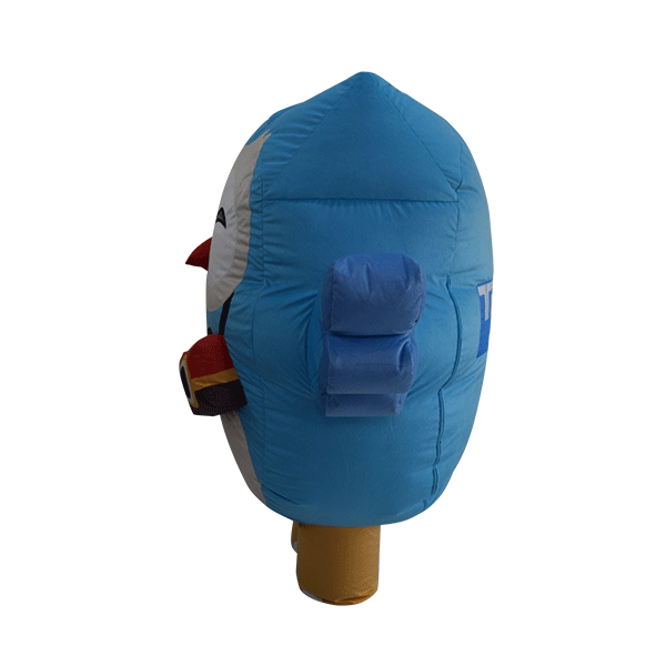 custom made mascot trip4asia blue owl hola mascot 2