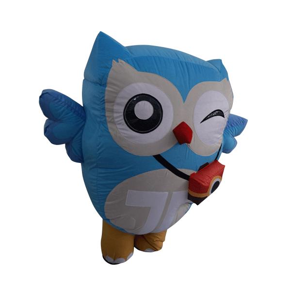 custom made mascot trip4asia blue owl hola mascot 1