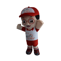 custom made mascot smart reader boy hola mascot 5