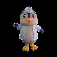 custom mascot malaysia KMC penguin with shirt hola mascot 2