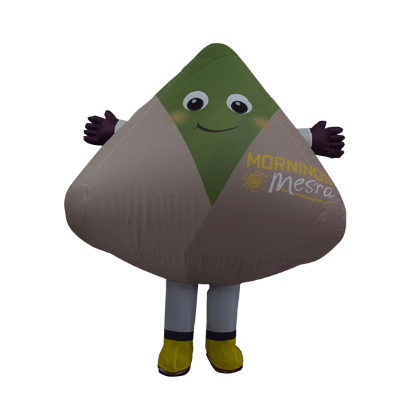 custom made mascot malaysia petronas mesra nasi lemak hola mascot 1