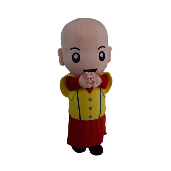 custom made mascot malaysia monk yellow hola mascot 5