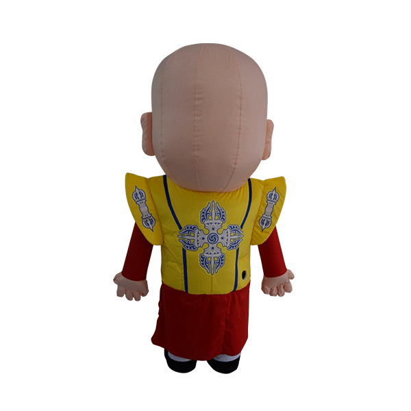 custom made mascot malaysia monk yellow hola mascot 3