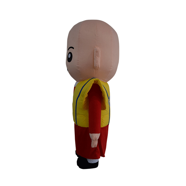 custom made mascot malaysia monk yellow hola mascot 2