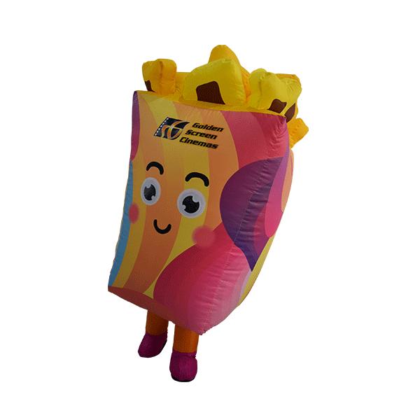 inflatable custom mascot malaysia cinema gsc popcorn hola mascot 5