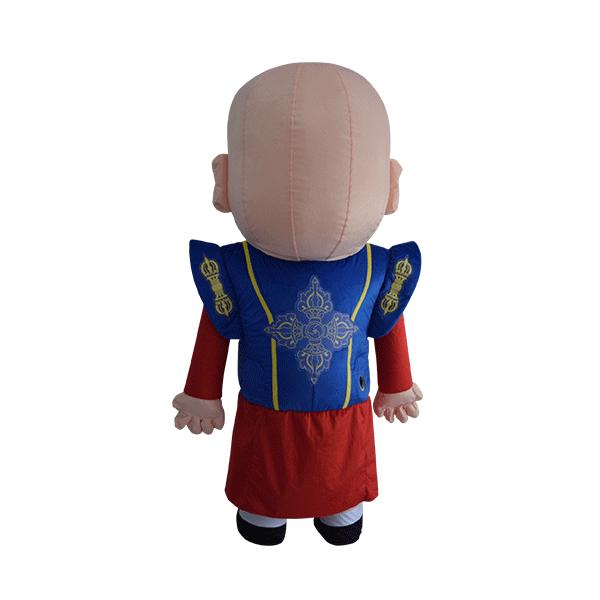 custom made mascot malaysia monk blue hola mascot 3