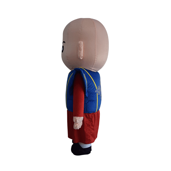 custom made mascot malaysia monk blue hola mascot 2