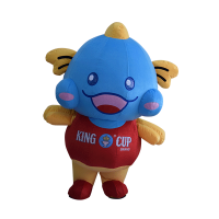 custom made mascot malaysia king cup fish hola mascot 5