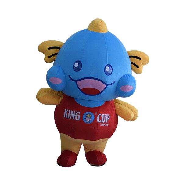 custom made mascot malaysia king cup fish hola mascot 5