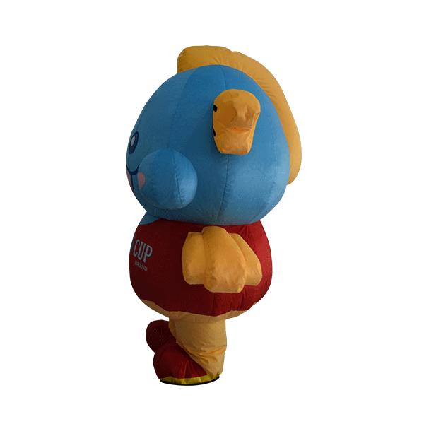 custom made mascot malaysia king cup fish hola mascot 2