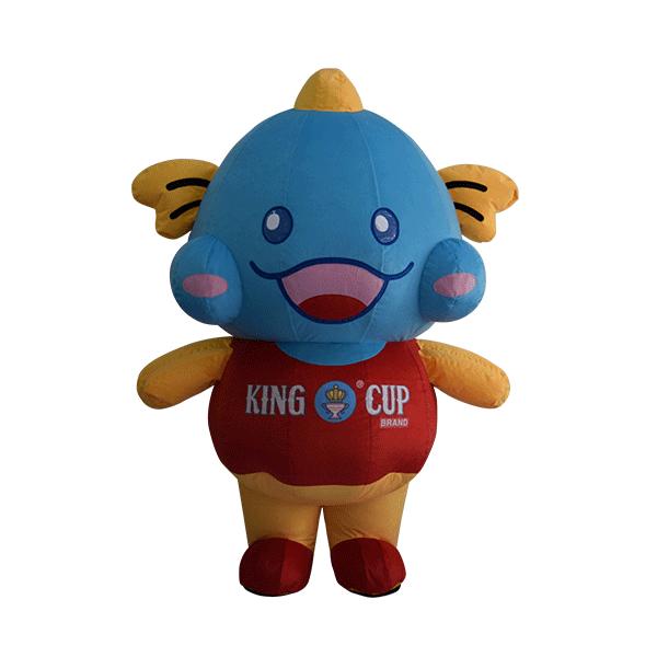 custom made mascot malaysia king cup fish hola mascot 1