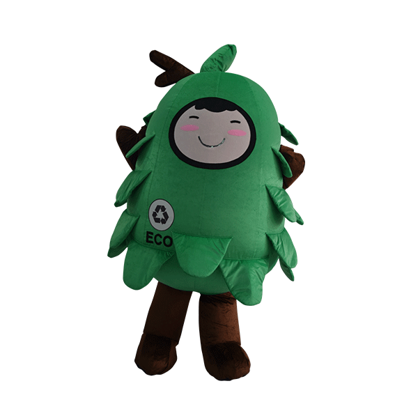 custom made mascot malaysia eco big tree hola mascot 5