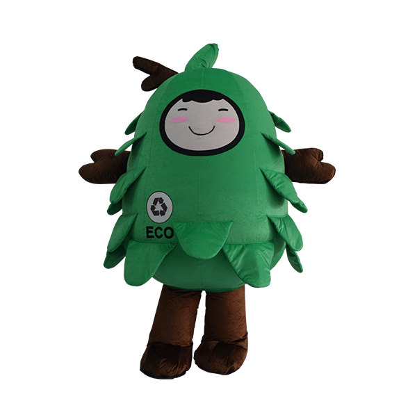 custom made mascot malaysia eco big tree hola mascot 1