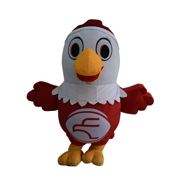 custom mascot malaysia eagle eye christmas hola mascot 1