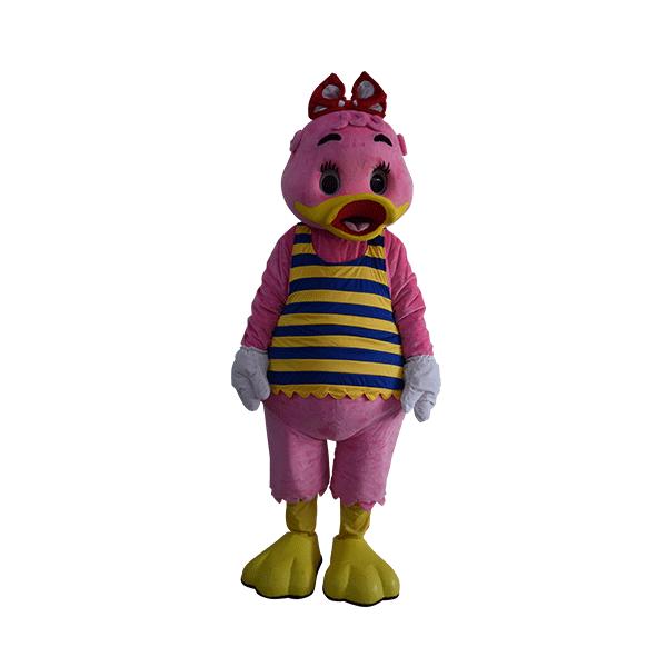 custom made mascot sunway lagoon lady quack hola mascot 3