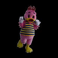 custom made mascot sunway lagoon lady quack hola mascot 2