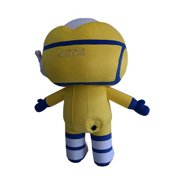 custom mascot malaysia captain ej ktm hola mascot back view