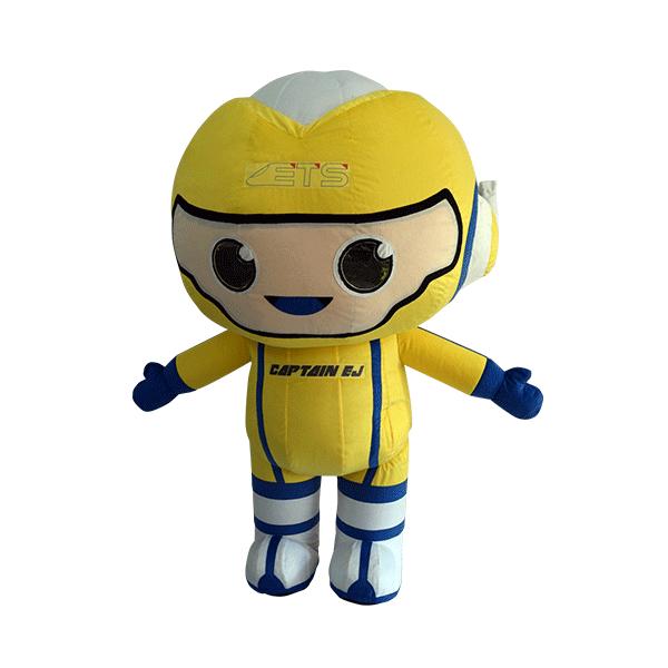 custom mascot malaysia captain ej ktm hola mascot front view