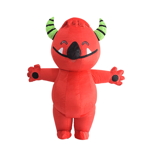 custom mascot malaysia buds red monster hola mascot 1