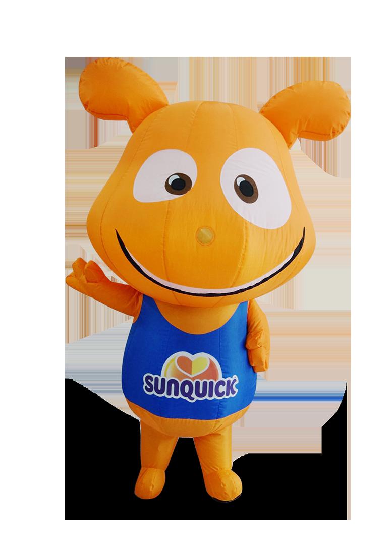 custom mascot supplier malaysia sunquick hola mascot 1