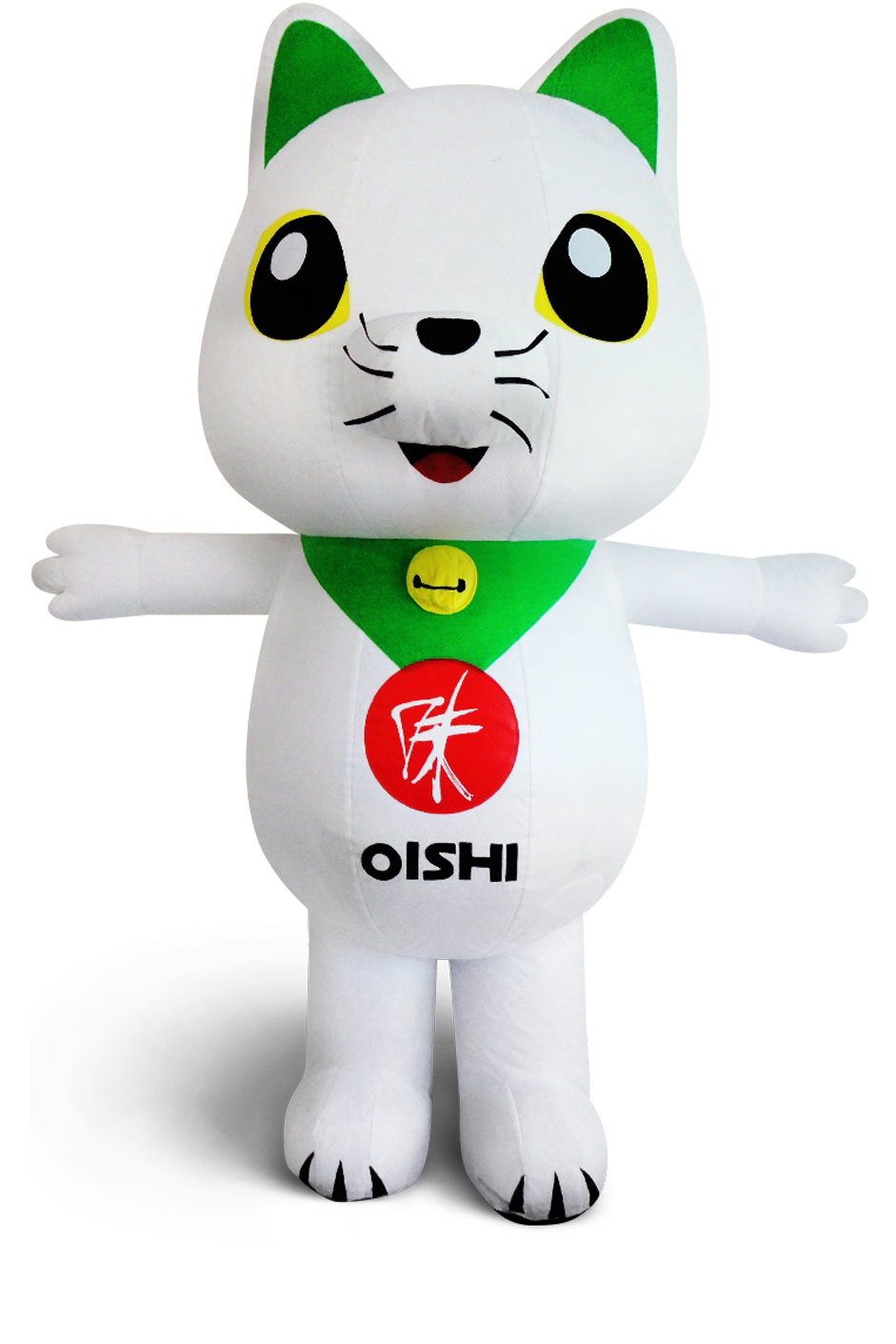 custom made maskot malaysia oishi cat hola mascot
