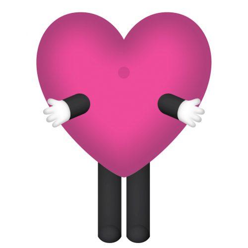 Hola mascot_Heart_front