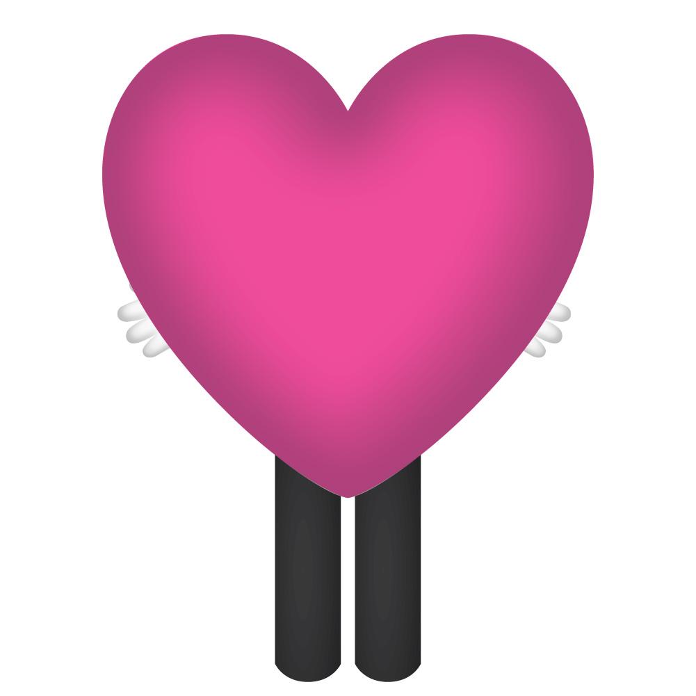 Hola mascot_Heart_rear